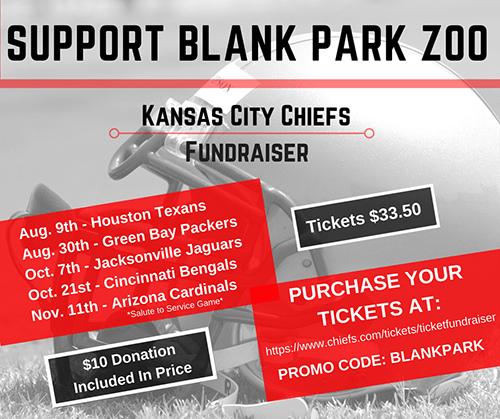 kansas city chiefs ticket fundraiser blank park zoo