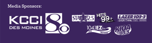 Night Eyes media sponsors are KCCI, Star 102.5, Hits 99.9, Lazer 103.3, More 104.1, and 93.3 KIOA